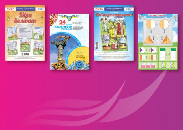 Серія «Наочні посібники» — плакати для створення сучасного навчального середовища!
